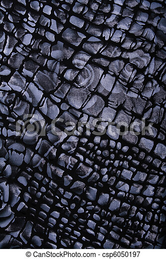Black and grey fabric with flower pattern as background - csp6050197