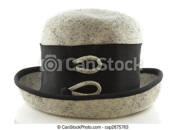 Black and grey hat - csp2875763