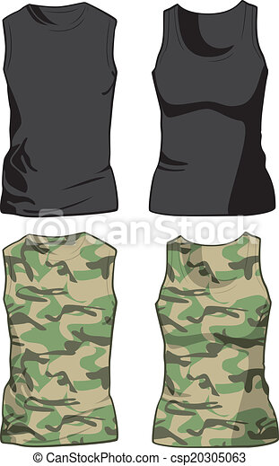 black and military shirts template vector black and military
