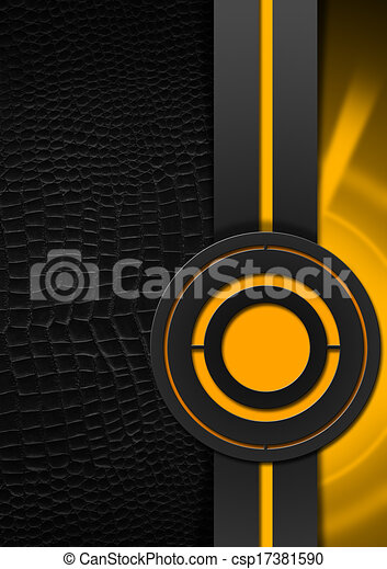 Black And Orange Abstract Background