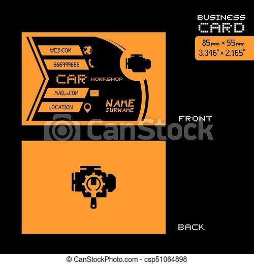 Black and orange car workshop business card art creative design of black and orange car workshop business card art csp51064898 colourmoves