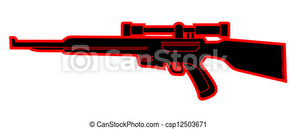 black and red sniper - csp12503671