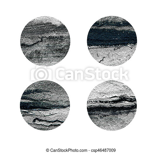 Black and silver rounds isolated on white - csp46487009