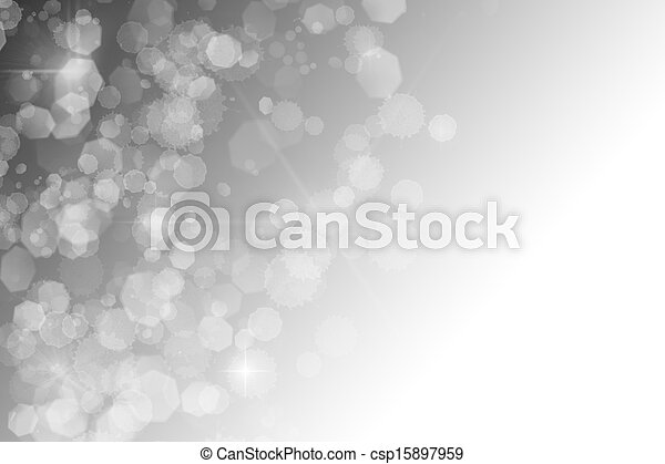 black and white abstract background white sparkles bokeh stars - csp15897959