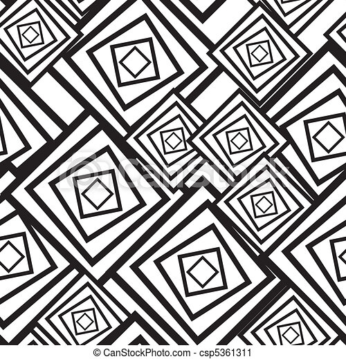 Abstract Art Black And White Patterns. Abstract Seamless Pattern With Black  And White Balls Vector ...