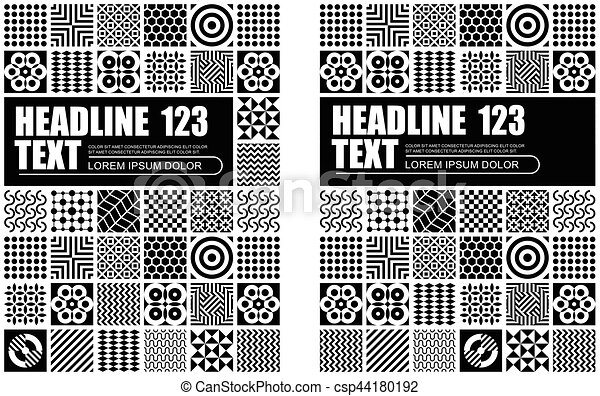 Black and White Abstract Pattern Template Design - csp44180192