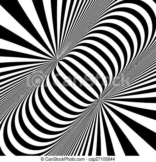 black and white abstract striped background optical art 3d vector
