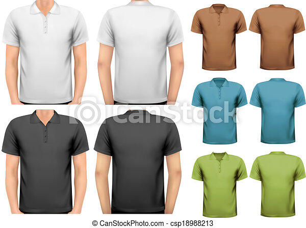 T Shirt Design Line Art : Black and white color men t shirts. design template . vector