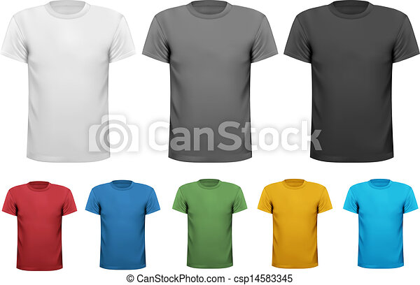 Black and white and color shirts - csp14583345