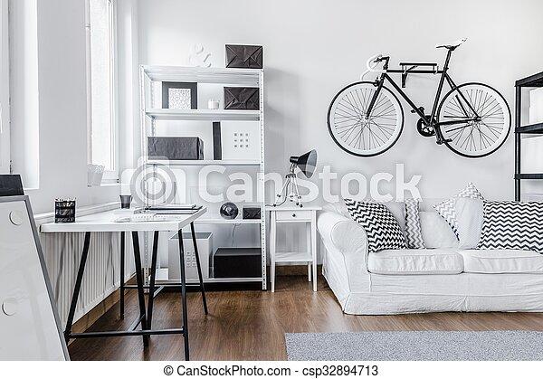 Black and white arrangement - csp32894713