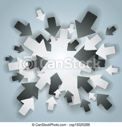 Black And White Arrows Centre - csp15020288