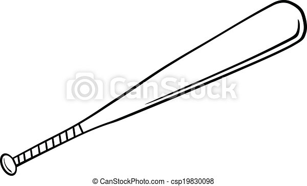 black and white baseball bat illustration isolated on white eps rh canstockphoto com Vector O Baseball Bat Vector O Baseball Bat