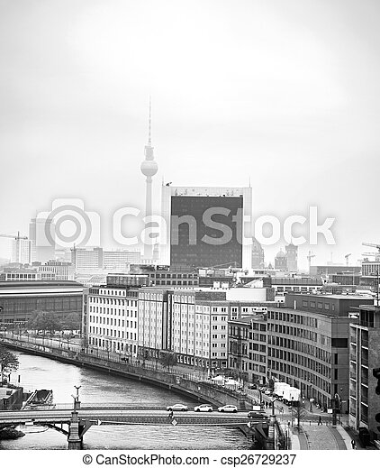 Black and white Berlin - csp26729237