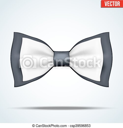 Classic Black And White Bow Tie Fashion And Trendy Symbol Editable