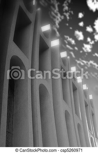 Black and white building - csp5260971