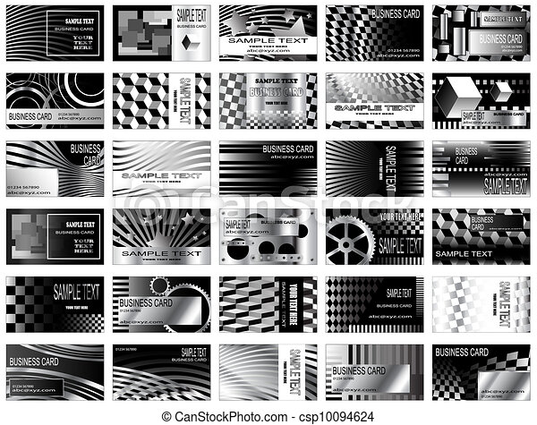 Black and white business cards high tech black and white vector black and white business cards csp10094624 reheart Choice Image
