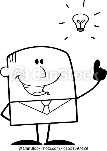 Black And White Businessman - csp21597429