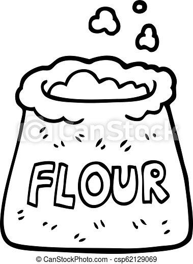 black and white cartoon bag of flour https www canstockphoto com black and white cartoon bag of flour 62129069 html
