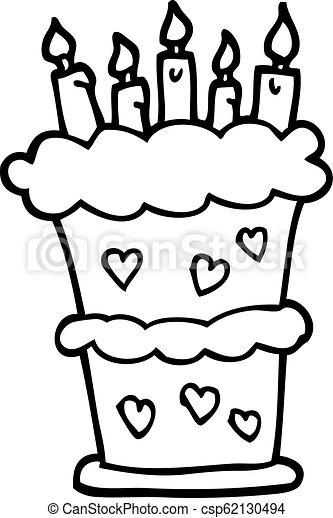 Surprising Black And White Cartoon Birthday Cake Personalised Birthday Cards Akebfashionlily Jamesorg