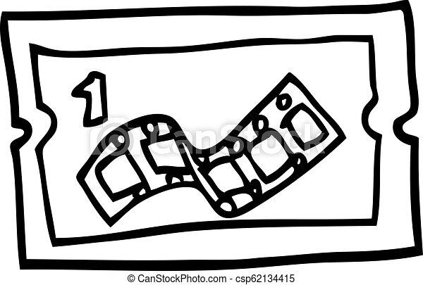 Cartoon Movie Ticket Stock Illustration Images 1671 Cartoon Movie