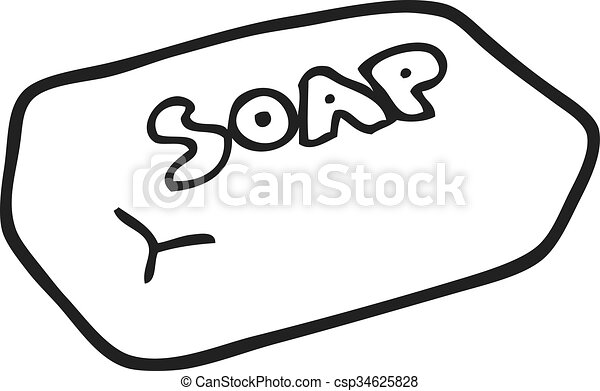 freehand drawn black and white cartoon soap vector illustration rh canstockphoto com soup clipart eps soap clip art free