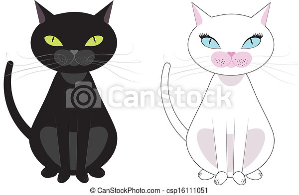 Black and white cats csp16111051