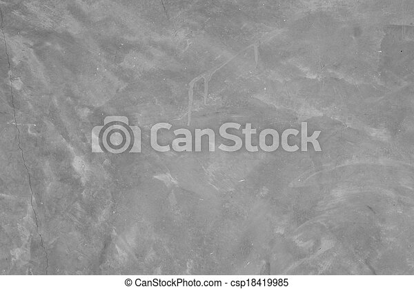 black and white cement wall - csp18419985