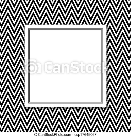 Black And White Zig Zag Photo Frame