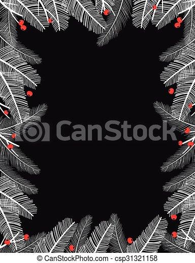 Black and white Christmas frame - csp31321158
