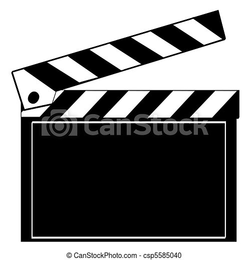 black and white clapboard isolated on white stock illustration rh canstockphoto com clapboard clipart free movie clapboard clipart free