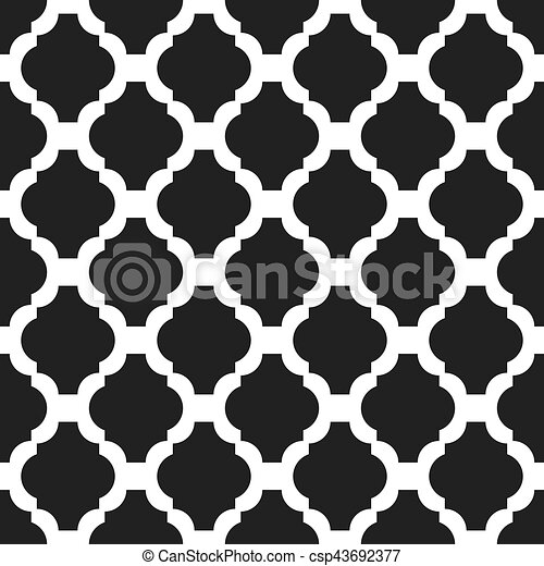 Black And White Classic Seamless Vector Pattern