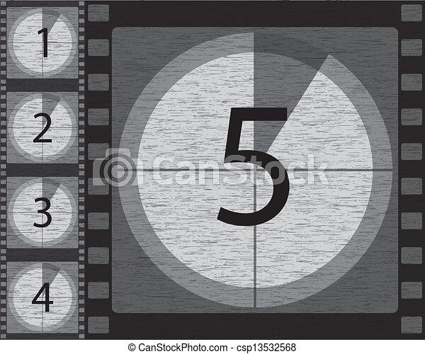 Black and white countdown - csp13532568