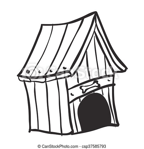 black and white dog house cartoon eps vectors search clip art rh canstockphoto com clipart dog house dog house clipart