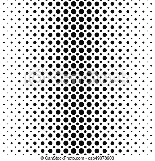 Black and white dot pattern background csp49078903
