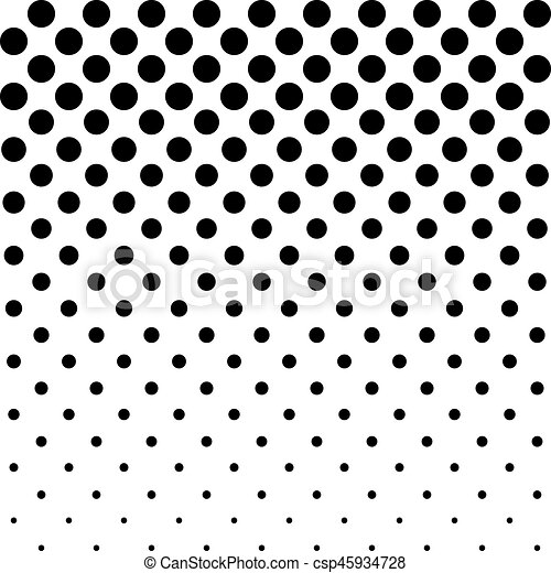 Black and white dots background in halftone design. vector ...