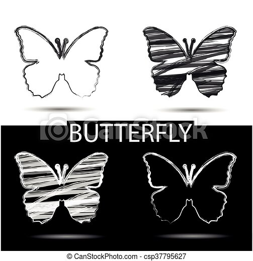 Black And White Drawing Butterfly Symbol Of Beauty