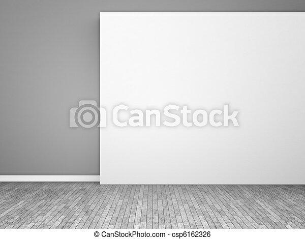 black and white empty room - csp6162326