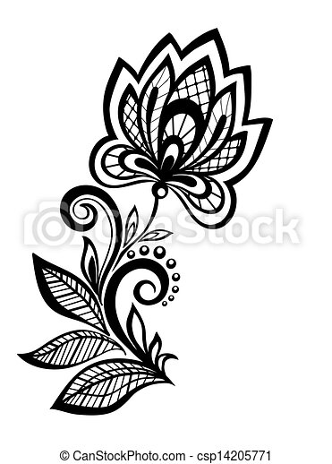 Black And White Floral Pattern Design Element Many Similarities To