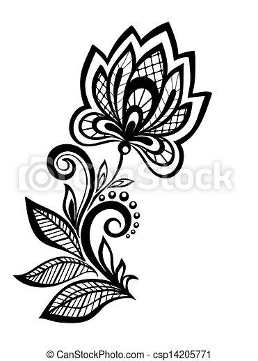 Black and white floral pattern design element many similarities to black and white floral pattern design element csp14205771 mightylinksfo