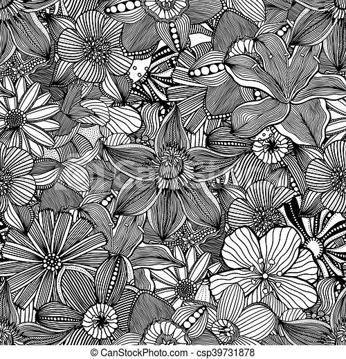 Seamless pattern black and white flower backgroundctor seamless pattern black and white flower backgroundctor illustration mightylinksfo