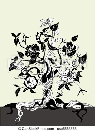 Black And White Flowers Clip Art Vector Graphics 70996 EPS Clipart Stock Illustrations Available To Search From