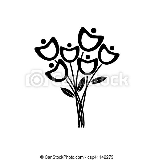 Black and white flowersspring flowers with white background black black and white flowers csp41142273 mightylinksfo