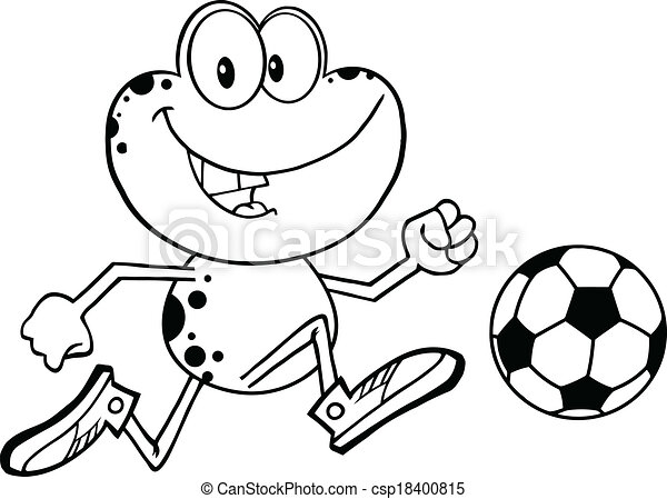 black and white frog character black and white cute frog cartoon rh canstockphoto com Black and White Tree Frog Frog Drawings Clip Art