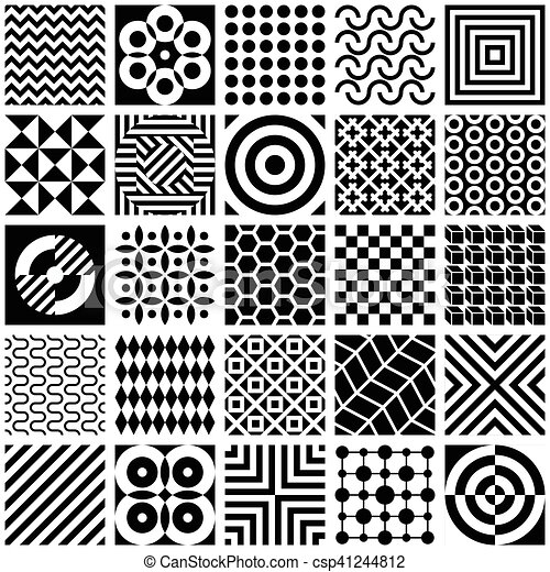 Black And White Geometric Patterns Black And White Abstract