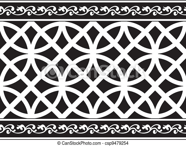 Black And White Gothic Border