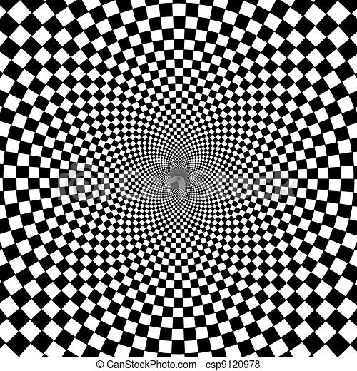Black and white hypnotic background. - csp9120978