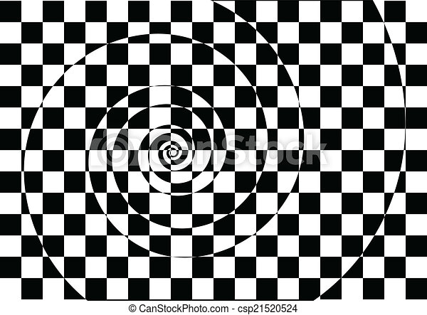 Black and white hypnotic background - csp21520524