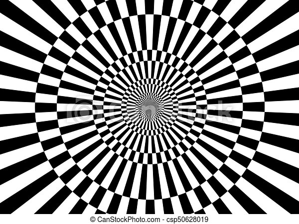 black and white illusions - csp50628019