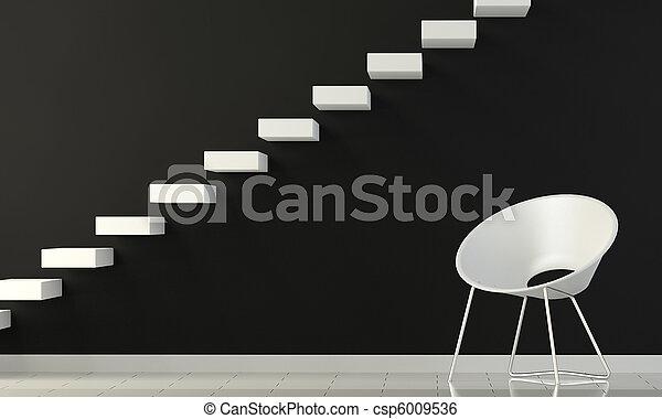 black and white interior - csp6009536