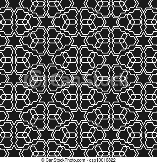 Black and white islamic pattern csp10016822